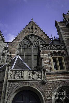 Weathervane Photograph - Levels Of The Old Church Amsterdam by Teresa Mucha