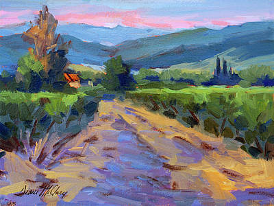 Country Scenes Painting - Lever Du Soleil by Diane McClary