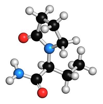 Levetiracetam Epilepsy Drug Molecule Print by Molekuul