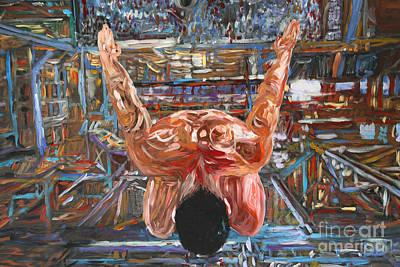 Man Painting - Levitation 2576 by Lars  Deike
