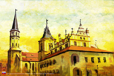 Dome Painting - Levoca Spissky Hrad And The Associated Cultural Monuments by Catf