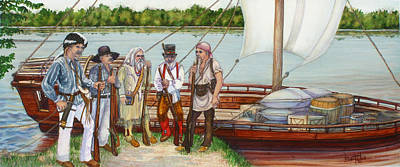 Lewis And Clark Print by Beth Gramith