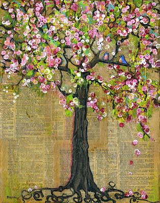Lexicon Tree Of Life 4 Print by Blenda Studio