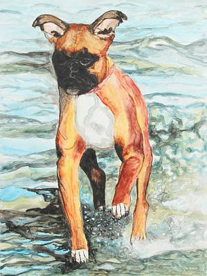 Dog Portrait Painting - Leyla by Jeanne Fischer