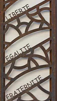 Liberte Egalite Fraternite Print by Georgia Fowler