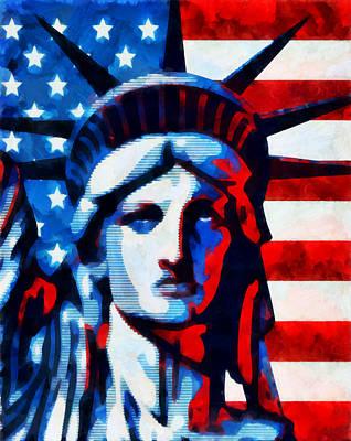 Democracy Mixed Media - Liberty 2 by Angelina Vick