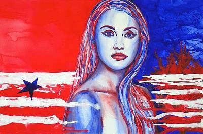 Liberty American Girl Print by Anna Ruzsan
