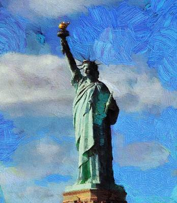 Tourist Attraction Mixed Media - Liberty by Dan Sproul