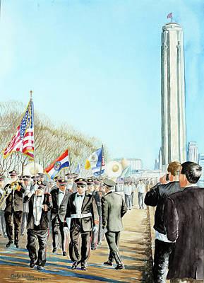 Liberty Memorial Kc Veterans Day 2001 Print by Carolyn Coffey Wallace
