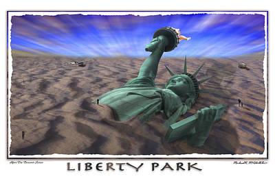 Statue Of Liberty Digital Art - Liberty Park by Mike McGlothlen