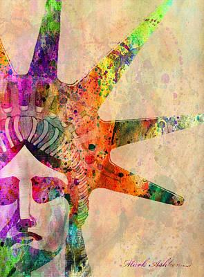 Statue Of Liberty Digital Art - Liberty Statue by Mark Ashkenazi
