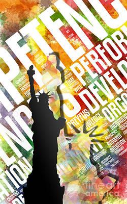 Liberty Island Digital Art - Liberty by Stefano Senise