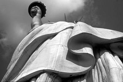 Statue Photograph - Liberty's Gown by Keith Marsh