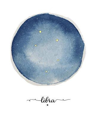 Zodiac Painting - Libra Circle by Amy Cummings