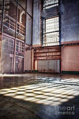 Alcatraz Photograph - Library Cage by Andrew Brooks
