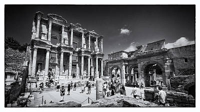Byzantine Photograph - Library Of Celsus - Ephesus by Stephen Stookey