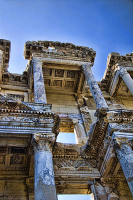 Ruins Photograph - Library Of Celsus by David Smith
