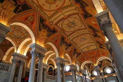 Corridor Photograph - Library Of Congress - Washington Dc - 011317 by DC Photographer