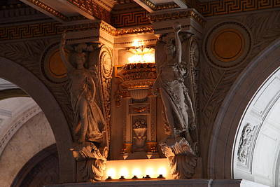 Ornate Photograph - Library Of Congress - Washington Dc - 01137 by DC Photographer