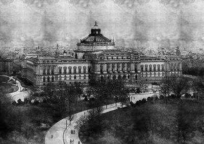 Washington Dc Drawing - Library Of Congress Washington Dc 1902 Sketch by Celestial Images