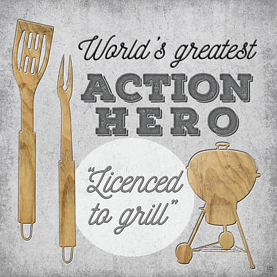 Grill Painting - Licensed To Grill by Aubree Perrenoud
