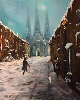 Renovation Painting - Lichfield Cathedral by Jean Walker