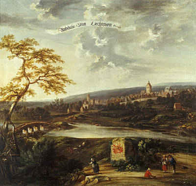Carl Ferdinand Fabritius Painting - Lichtenau by Carl Ferdinand Fabritius