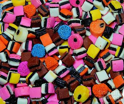 Allsorts Photograph - Licorice - Candy - Sweets - Treats by Barbara Griffin