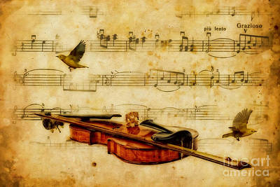 Musical Digital Art - Liebesfreud Joy Of Love by Olga Hamilton