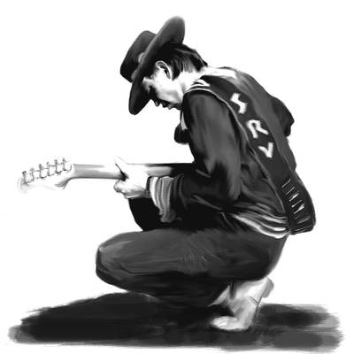 Stevie Ray Vaughan Drawing - Life By The Drop  Stevie Ray Vaughan  by Iconic Images Art Gallery David Pucciarelli