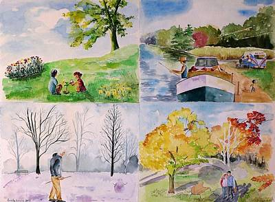 Cycles Painting - Life Goes On by Geeta Biswas