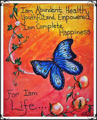 Life - Healing Art Original by Absinthe Art By Michelle LeAnn Scott