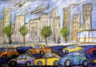 Airliners Painting - Life In The Big City by Gerry High
