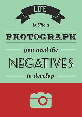 Reality Digital Art - Life Inspirational Quotes Typography Quotes Poster by Lab No 4 - The Quotography Department