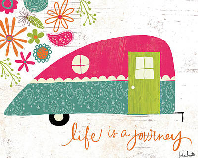 Inspirational Painting - Life Is A Journey by Katie Doucette
