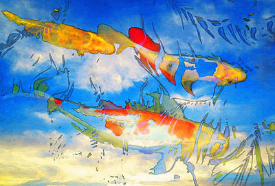 Ghosts Painting - Life Is But A Dream - Koi Fish Art by Sharon Cummings