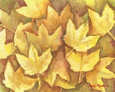 Maple Season Painting - Life Is Golden by Shana Rowe Jackson