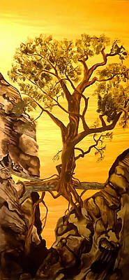 Tree Roots Painting - Life Is Inevitable by Fallon Franzen