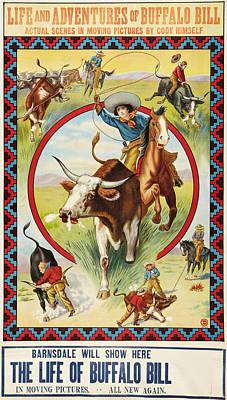 Life Of Buffalo Bill, Poster Art, 1912 Print by Everett
