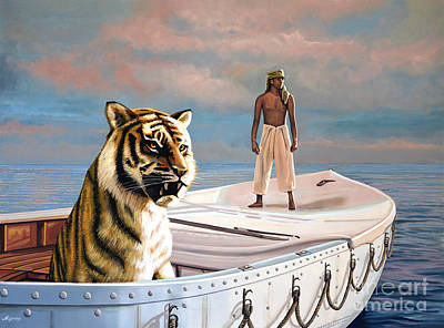 Bengal Tiger Painting - Life Of Pi by Paul Meijering