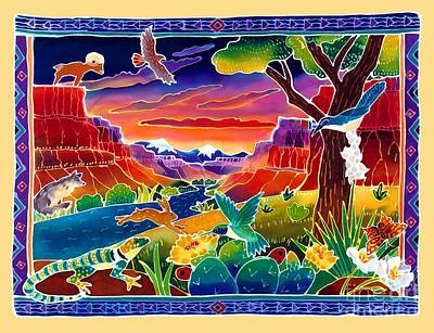 Sunrise Painting - Life Of The Desert by Harriet Peck Taylor