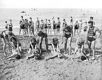 Life Saving Instructors Print by Underwood Archives