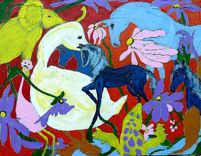 Salamanders Painting - Life by Vija Francis-Celmins