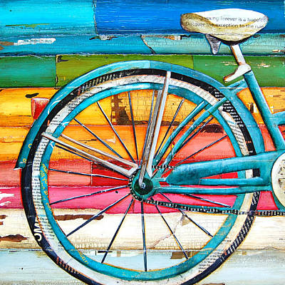 Bicycling Mixed Media - Lifecycles by Danny Phillips