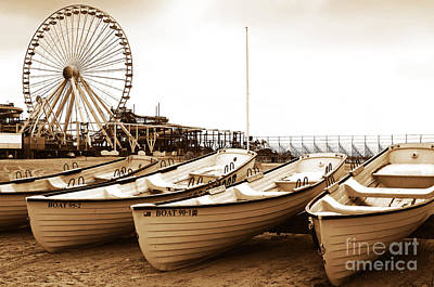 Lifeguard Boats Print by John Rizzuto