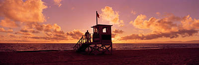 Getting Away From It All Photograph - Lifeguard Hut On The Beach, 22nd St by Panoramic Images