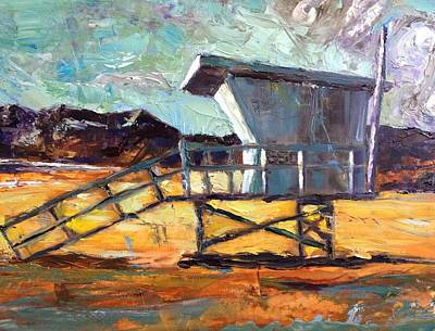 Santa Monica Painting - Lifeguard Station Number Two by Lindsay Frost