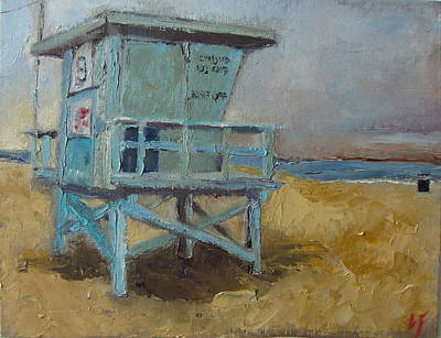 Santa Monica Painting - Lifeguard Station One by Lindsay Frost