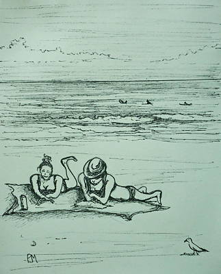 Life's A Beach Print by Pete Maier