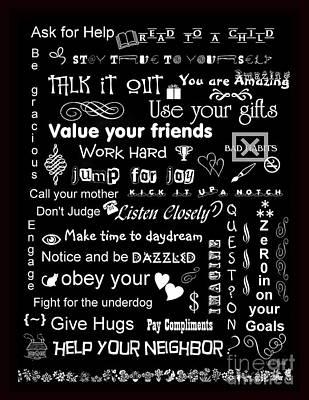 Life's Little Alphabet Print by Linda Galok